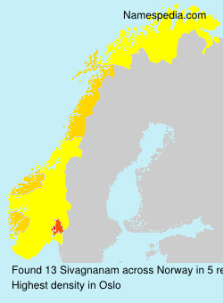 Surname Sivagnanam in Norway