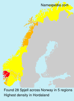 Surname Spjell in Norway
