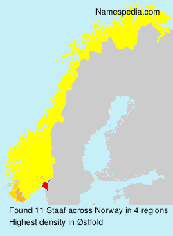 Surname Staaf in Norway