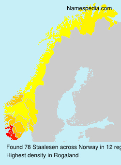 Surname Staalesen in Norway