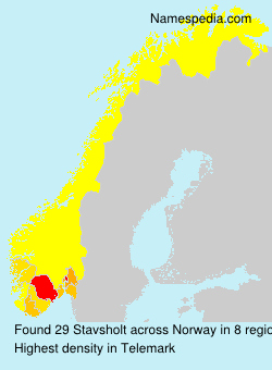 Surname Stavsholt in Norway
