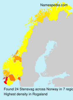 Surname Stensvag in Norway