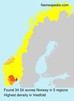 Surname Sti in Norway