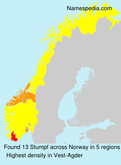 Surname Stumpf in Norway
