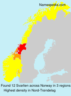 Surname Svarlien in Norway