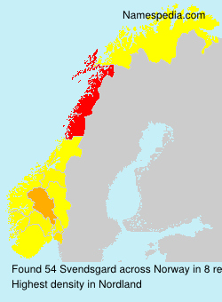 Surname Svendsgard in Norway