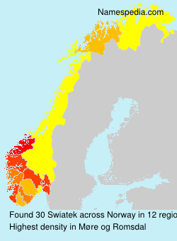 Surname Swiatek in Norway
