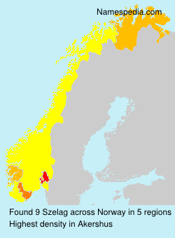 Surname Szelag in Norway