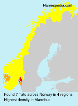 Surname Tatu in Norway