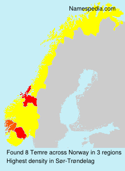 Surname Temre in Norway
