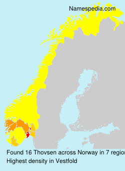 Surname Thovsen in Norway