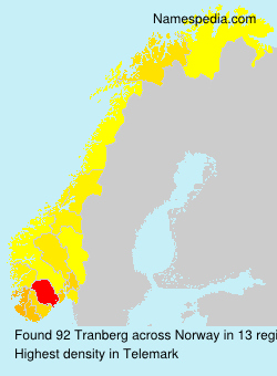 Surname Tranberg in Norway