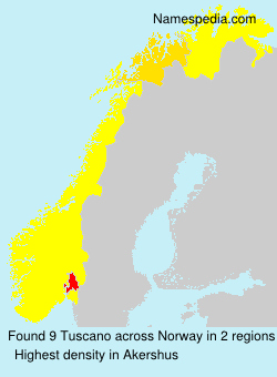Surname Tuscano in Norway