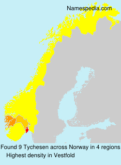 Surname Tychesen in Norway