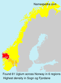 Surname Uglum in Norway