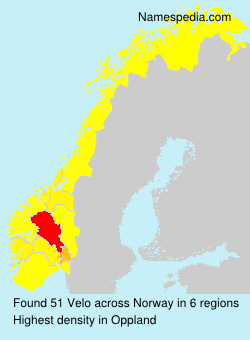 Surname Velo in Norway