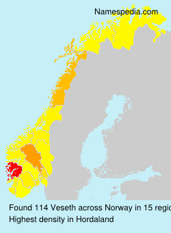 Surname Veseth in Norway