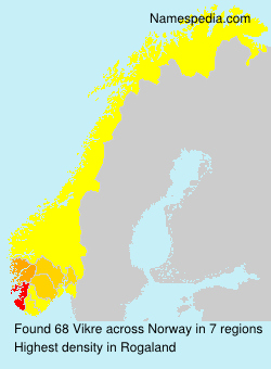 Surname Vikre in Norway