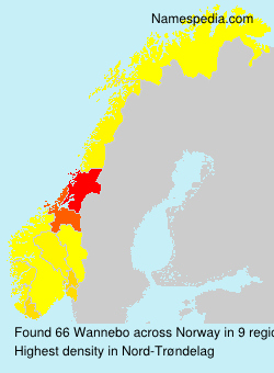 Surname Wannebo in Norway