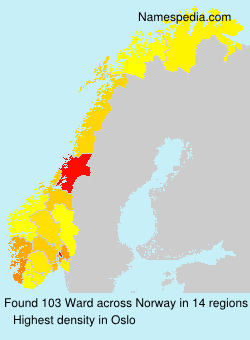 Surname Ward in Norway
