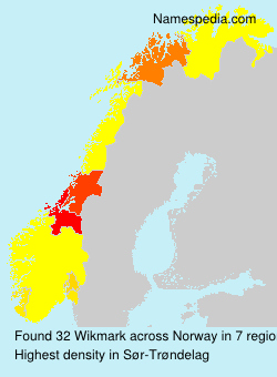 Surname Wikmark in Norway