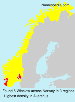 Surname Winslow in Norway