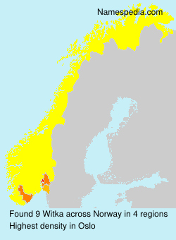 Surname Witka in Norway