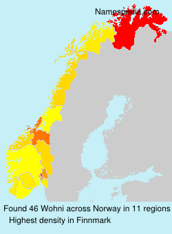 Surname Wohni in Norway
