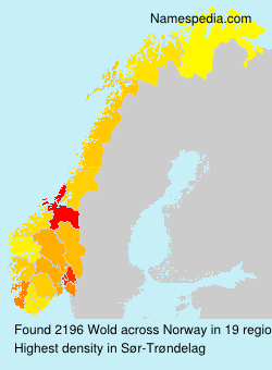 Surname Wold in Norway