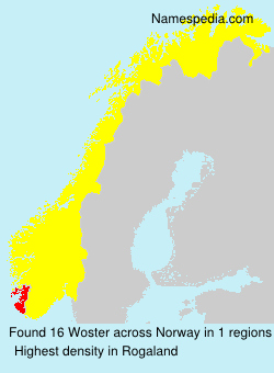 Surname Woster in Norway