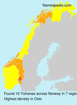 Surname Yohanes in Norway
