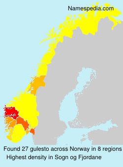 Surname gulesto in Norway