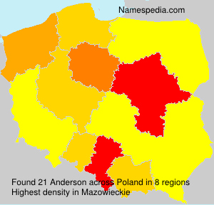 Surname Anderson in Poland