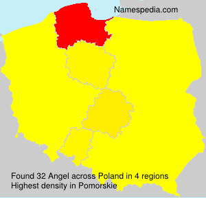 Surname Angel in Poland