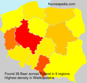 Surname Baer in Poland