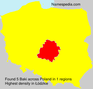 Surname Baki in Poland