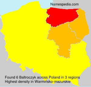 Surname Baltroczyk in Poland
