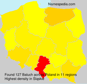 Surname Baluch in Poland