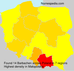 Surname Barbachen in Poland