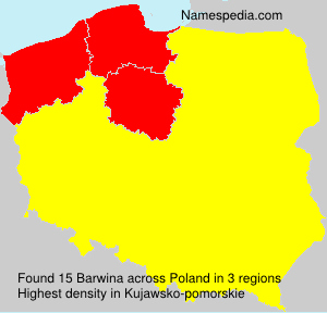 Surname Barwina in Poland