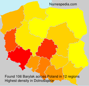 Surname Barylak in Poland