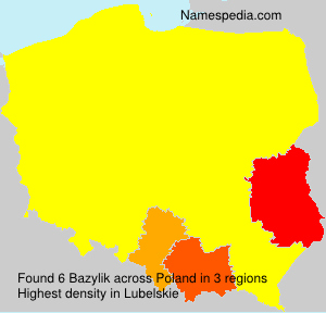 Surname Bazylik in Poland