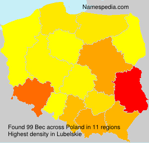 Surname Bec in Poland