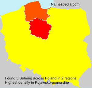 Surname Behring in Poland