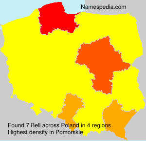 Surname Bell in Poland