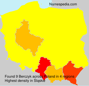 Surname Berczyk in Poland