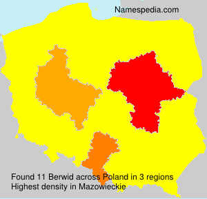 Surname Berwid in Poland