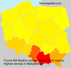 Surname Biedron in Poland