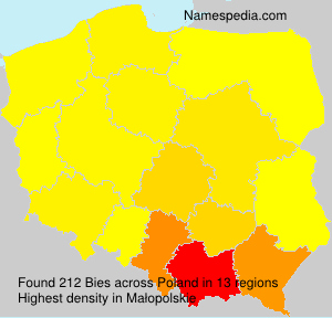 Surname Bies in Poland