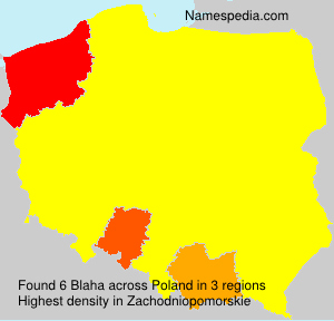 Surname Blaha in Poland